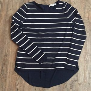 Navy stripe summer sweater